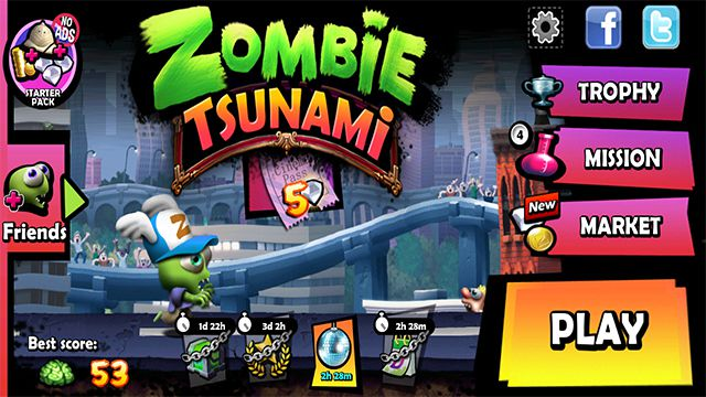 download zombie tsunami mod apk unlimited diamonds and coins